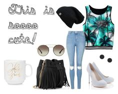 """""""L.A. Style"""" by iluvpie1233 on Polyvore featuring Lipsy, Whistles, Topshop and Prada"""