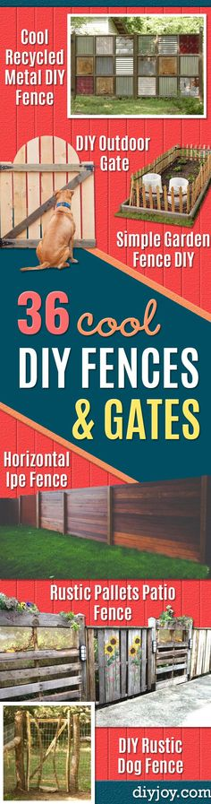 DIY Fences and Gates - How To Make Easy Fence and Gate Project for Backyard and Home - Step by Step Tutorial and Ideas for Painting, Updating and Making Fences and DIY Gate - Cool Outdoors and Yard Projects via @diyjoycrafts