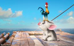 #HeiHei - the world's dumbest chicken and #Pua - #Moana's loyal 'puppy' pig :]