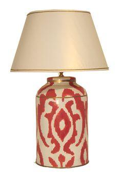 Dana Gibson Large Madagascar Tea Caddy Lamp