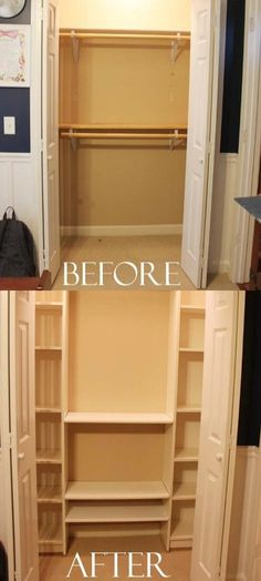 Fabulous DIY IKEA Closet System for Under $100 - two Billy bookcases ($40 each) and some rods!