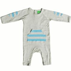ESTELLA CHRIS BABY ROMPER WITH ELBOW PATCHES & KANGAROO POCKET
