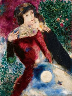 Marc Chagall, Les Amoureux - 1928 on ArtStack #marc-chagall #art