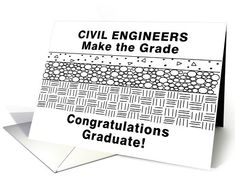 Funny Civil Engineering Graduation Card by Barthol Graphics