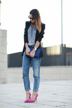boyfriend jeans, casual, street style