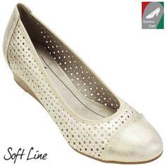 Jana Soft Line női cipő 8-22365-20 909 világos arany 87e73762d5