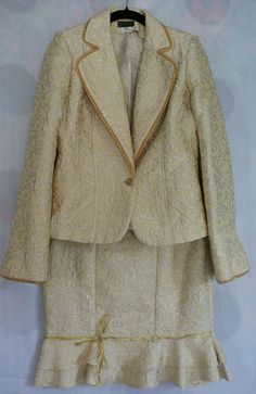 Givenchy gold brocade two piece suit, size S