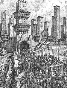 Conti di Panico: En 1313 Federizii di Ugolini y Maghinardo, su herm...
