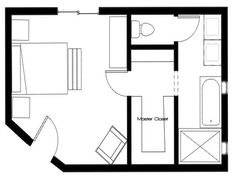 Master bedroom 14x24 addition floor plans with master for 7x8 bathroom ideas