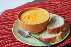 Chedder Cheese Soup via Just a Spoonful of.  Cheeeeese!