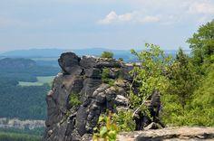 climbing at Lilienstein