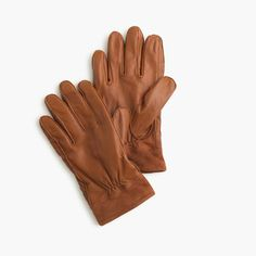 J.Crew Gift Guide: men's leather work gloves.