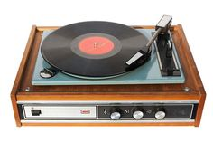vintage record player | An old record-player