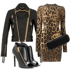 Sexy Leopard by anne-kristoffersen on Polyvore featuring polyvore, fashion, style, Dolce&Gabbana, Burberry, Tom Ford and Alexander McQueen