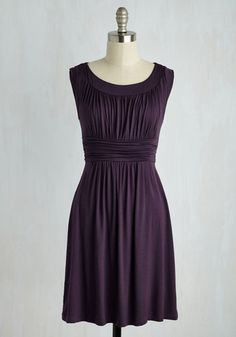 I Love Your Dress in Plum - Jersey, Purple, Solid, Pleats, Ruching, Casual, Sleeveless, Best Seller, Social Placements, Press Placement, Mid-length, Good, 4th of July Sale, Knit, Maternity, A-line, Work