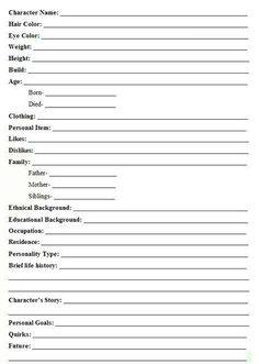 character bio