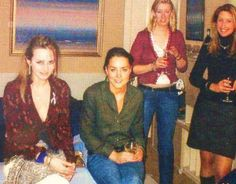 Kate, with a few university friends.