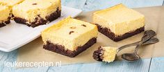 Cheescake brownie for a high tea party. 2 for the price of 1 Brownie Cheesecake, Brownie Cake, Cheesecake Recipes, Tea Recipes, Sweet Recipes, Baking Recipes, High Tea Food, Mini Brownies, Tea Snacks
