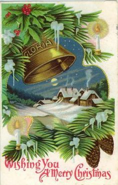 Vintage Christmas Cards with Holly