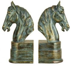 Horse Head Bookends - Set of 2 - Bookends - Home Accents - Home Decor | $39  HomeDecorators.com
