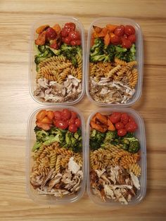 Saturday afternoon prep as the toddler sleeps. Maple glazed carrots, roasted veg, pasta and airfryer chicken thighs. Veg Meal Prep, Fitness Meal Prep, Healthy Meal Prep, Good Healthy Recipes, Healthy Snacks, Vegetarian Recipes, Healthy Eating, Clean Eating, No Heat Lunch