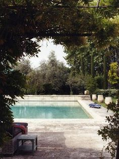 serene pool via habitually chic