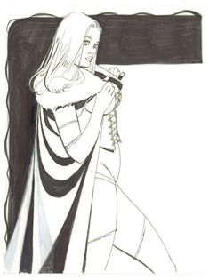 Emma Frost White Queen Commission art by Steve Rude Girls Characters, Comic Book Characters, Comic Book Heroes, Marvel Characters, Comic Book Girl, Comic Book Artists, Dc Tv Shows, Female Hero, Emma Frost