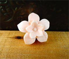 Little Flower Soap: Small Decorative Flower Guest Soap Bar, You Choose Color & Scent