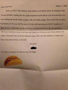 Fai scrivere una lettera da tuo figlio a sè stesso nel futuro!