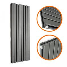 1780 x 560mm Anthracite Double Flat Panel Vertical Radiator