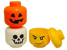 Our brand new, spookily good, LEGO heads - perfect for trick or treating on Halloween!     http://www.aplaceforeverything.co.uk/home-storage/lego-pumpkin-storage-head-small?ret=41=LEGO=spin