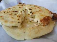 Pupusas de loroco.  They're an El Savadorian dish.  If you don't know...you better ask somebody!  :)