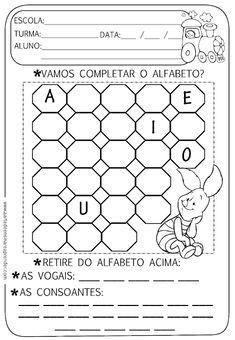 Atividade pronta - Alfabeto, vogais e consoantes - A Arte de Ensinar e Aprender