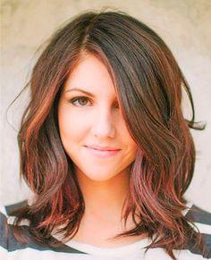 25 Besten Mittlere Haarlänge Bilder Auf Pinterest Haarfarbe