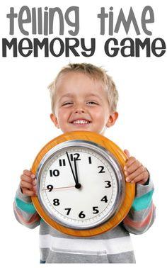 DIY time telling memory game for kids (STEM)