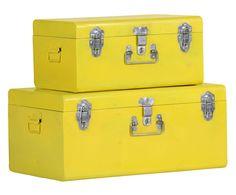 Set van 2 kisten David, geel | Dalani Home & Living