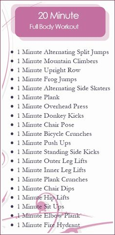 the perfect 20 minute full body workout