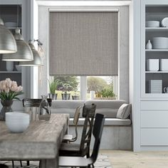 Choices Cavendish Mid Grey Roller Blind from Blinds 2go