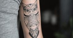 Tattoo Artist: Andrei Chernovalov. Tags: styles, Blackwork, Illustrative, Animals, Birds, Owls. Body parts: Tricep.