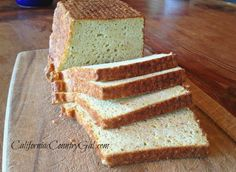 Easy Grain and Gluten free, WHOLE FOOD Sandwich Bread!  DELICIOUS!!  CALIFORNIA COUNTRY GAL | BLOG | GRAIN FREE BAKING WITH WHOLE FOODS