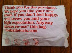 funny shop bag