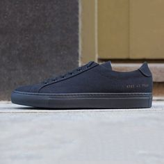 Fancy - Black Canvas Achilles Low Sneakers by Common Projects