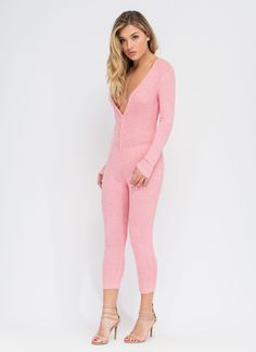 Take It Easy Ribbed Jumpsuit