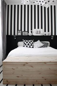 stripes in the bedroom