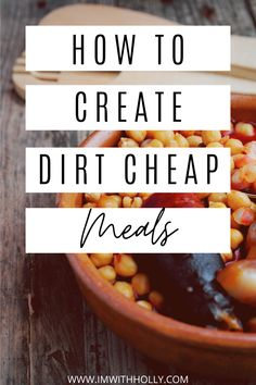 Tight grocery budget? No problem! Here's how you can create dirt cheap meals that your family will LOVE. Bonus inventory printable to help you come up with delicious custom creations with whats already in your pantry. Cheap Meal Plans, Free Meal Plans, Dinner Options, Dinner Ideas, Healthy Eating For Kids, Healthy Food, Discount Grocery, Dirt Cheap Meals, Easy Recipes