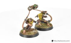 Skaven team for Blood bowl. Thowers. Painted by Renton.