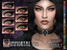 Immortal Eyes for The Sims 4  Found in TSR Category 'Sims 4 Eye Colors'