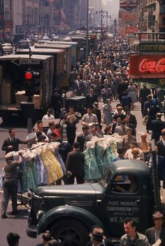 Garment District. 7th Avenue, Manhattan, NYC. 1960s