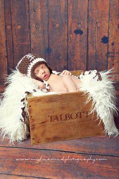 football new born photos
