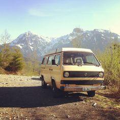 VW T3 Westfalia in the mountains....